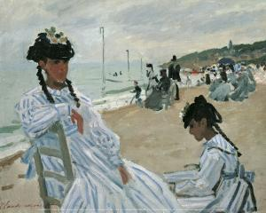On the Beach by Claude Monet