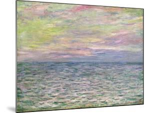 On the High Seas, Sunset at Pourville by Claude Monet