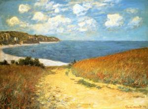 Path Through the Corn at Pourville, 1882 by Claude Monet