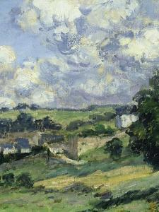 Paysage, Vétheuil, Landscape in Vétheuil, France, 1879, Detail by Claude Monet