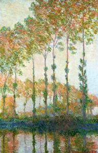 Poplars on the Banks of the Epte, Autumn, 1891 by Claude Monet