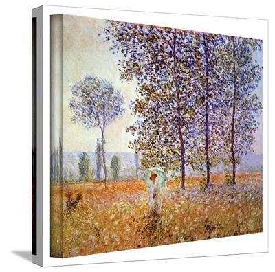 Claude Monet 'Poplars' Wrapped Canvas Art-Claude Monet-Gallery Wrapped Canvas