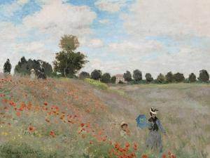 Poppy Field, 1873 by Claude Monet