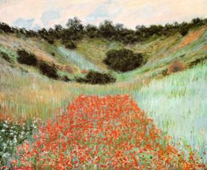 Poppy Field In A Hollow by Claude Monet