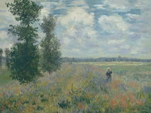 Poppy Fields Near Argenteuil, 1875 by Claude Monet