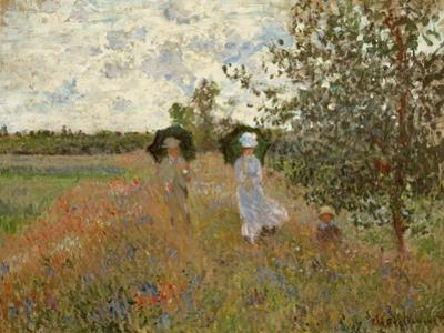 Promenade Near Argenteuil, 1873 by Claude Monet