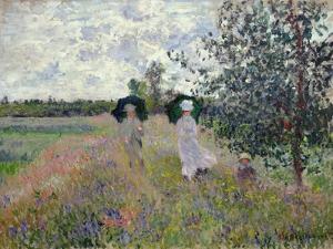 Promenade Near Argenteuil, 1873 by Claude Monet