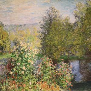 Quiet Corner in the Garden of Montgeron by Claude Monet