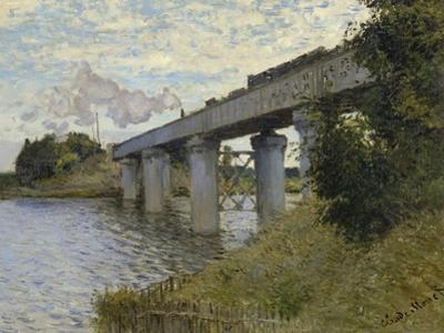 Railroad Bridge by Claude Monet