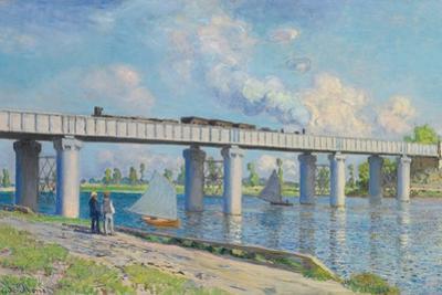 Railway Bridge at Argenteuil, 1873 by Claude Monet