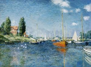 Red Boats, Argenteuil by Claude Monet