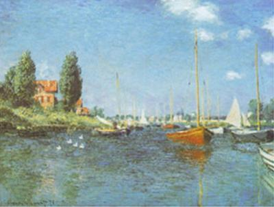 Red Boats at Argenteuil, c.1875 by Claude Monet