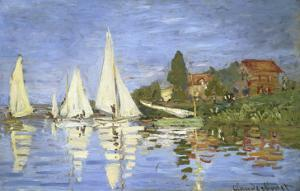 Regates a Argenteuil by Claude Monet
