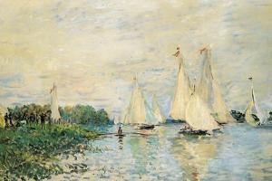 Regatta at Argenteuil, 1874 by Claude Monet