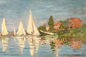 Regatta at Argenteuil, C.1872 by Claude Monet