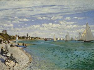 Regatta at Sainte-Adresse, 1867 by Claude Monet