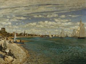 Regatta at Sainte-Adresse by Claude Monet