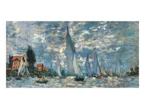 Regatta in Argenteuil by Claude Monet