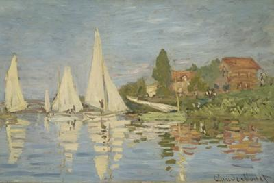 Regattas at Argenteuil, Ca 1872 by Claude Monet