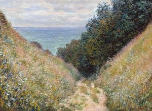 Road at La Cavée, Pourville by Claude Monet