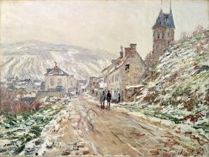 Road in Vetheuil in Winter by Claude Monet