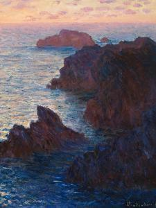 Rocks at Bell-Ile, Port-Domois, 1886 by Claude Monet