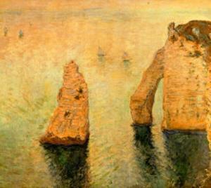 Rocks at Sea by Claude Monet