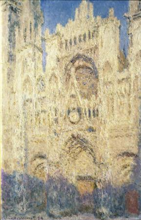 Rouen Cathedral in the Afternoon by Claude Monet