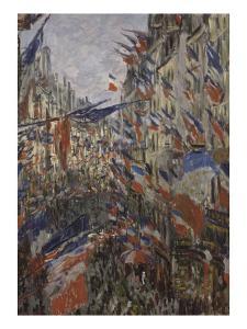 Rue Saint-Denis, fête du 30 juin 1878 by Claude Monet