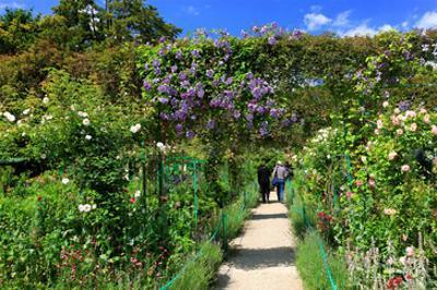 Claude Monet's Garden in Giverny, Department of Eure, Upper Normandy, France