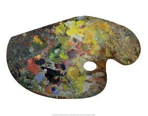 Claude Monet's Paint Palette, c. early 1900's