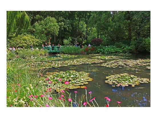 Claude Monet's Water Garden in Giverny, Department of Eure, Upper Normandy, France--Art Print