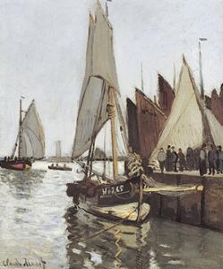 Sailboat at Honfleur by Claude Monet
