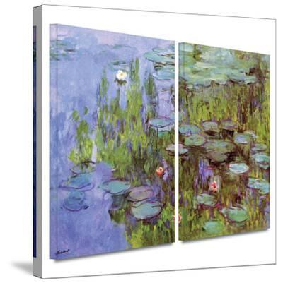 Sea Roses 2 piece gallery-wrapped canvas by Claude Monet