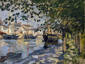 Seine at Rouen, 1872 by Claude Monet