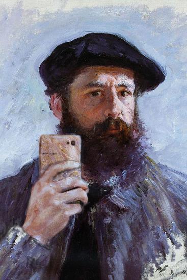 Claude Monet Selfie Portrait--Art Print