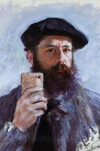 Claude Monet Selfie Portrait