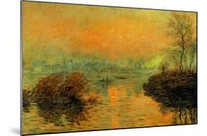 Setting Sun on the Seine at Lavacourt, Effect of Winter, 1880 by Claude Monet