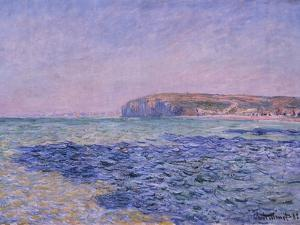 Shadows on the Sea, the Cliffs at Pourville, 1882 by Claude Monet