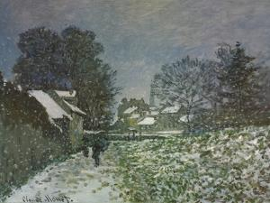 Snow at Argenteuil, 1874 by Claude Monet