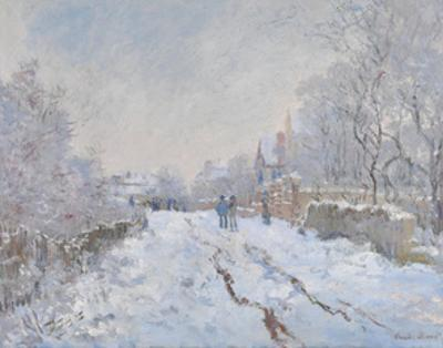 Snow at Argenteuil, 1875 by Claude Monet