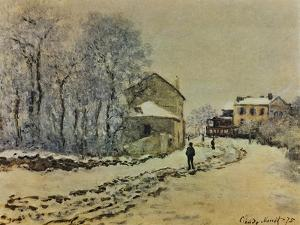 Snow in Argenteuil, 1875 by Claude Monet