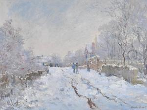 Snow Scene at Argenteuil, 1875 by Claude Monet