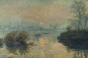 Soleil couchant à Lavacourt, effet d'hiver by Claude Monet
