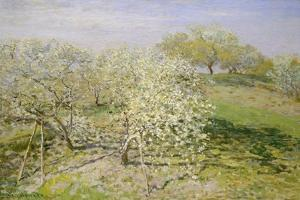 Spring (Fruit Trees in Bloom), 1873 by Claude Monet