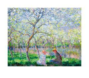 Spring time by Claude Monet