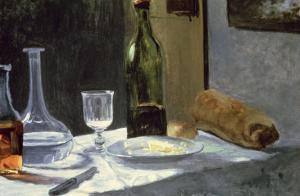 Still Life with Bottles, 1859 by Claude Monet