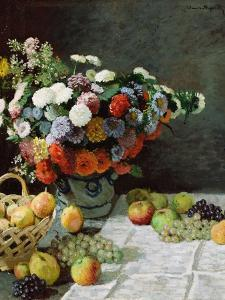 Still Life with Flowers and Fruit, 1869 by Claude Monet