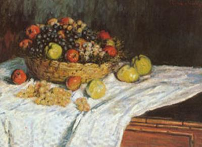 Still Life with Grapes and Fruit by Claude Monet