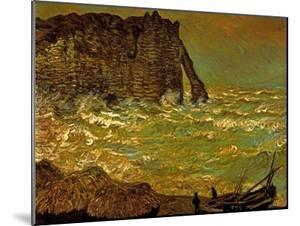 Storm at Etretat, 1883 by Claude Monet